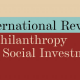 Higherlife Foundation Co-Founder speaks at launch of new journal: the International Review of Philanthropy and Social Investment
